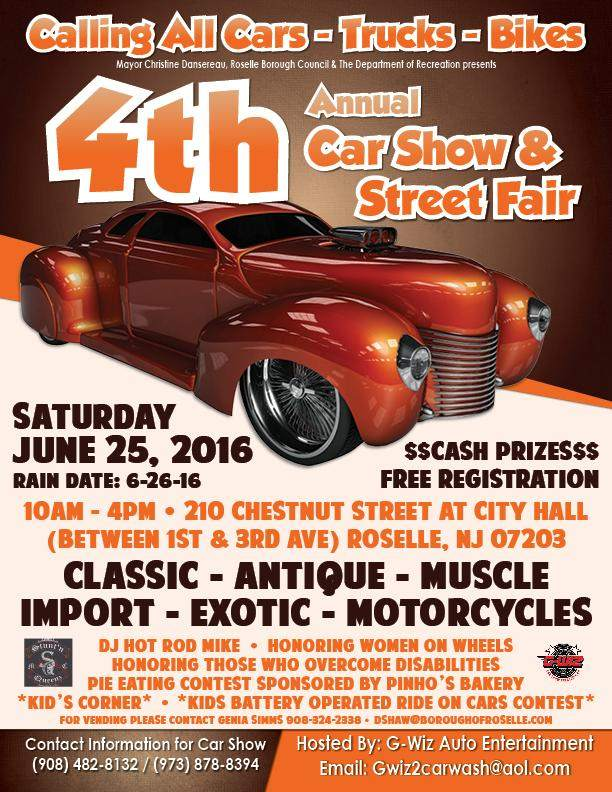 Car Show and Street Fair Roselle NJ bikers motorcycles show